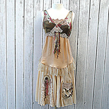 Shabby Chic  / Praire Girl / Boho Country Chic Women's Clothing / Alternative Wedding / Bridesmaid Dress / Rustic Gyspy Clothes