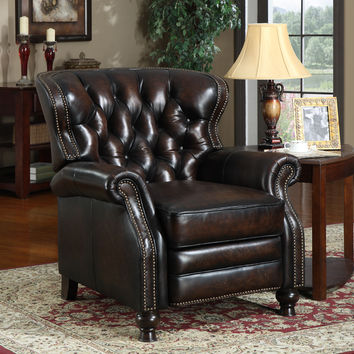 At Home Designs Manhattan Classic Recliner in Antique Bronze