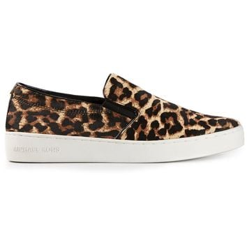 Michael Kors 'Keaton' leopard print slip-on sneakers