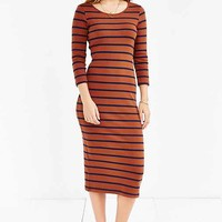 BDG Striped Knit Midi Dress