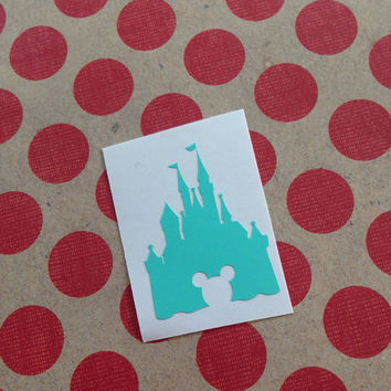 Disney Magic Band Decal | Disney Castle Decal | Disney Mickey Decal | Disney Magic Band Castle Mickey Vinyl Decal | Disney Vinyl Decals