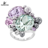Swarovski Multi-Color Crystal Jewelry CLAY RING #5113196