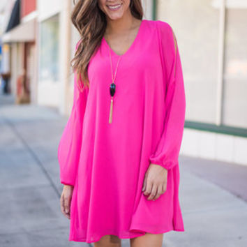 Steal My Heart Dress, Hot Pink