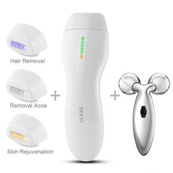 3 In 1 Women Permanent Hair Removal Device.IPL Electric Epilator Laser Hair Remover.Armpit Bikini Whole Body Care.350000 Pulses