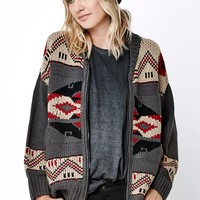 Obey Adri Sweater Cardigan - Womens Sweater - Black - Small