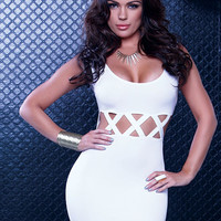 White Mini Dress - Women Club wear - Short Dresses