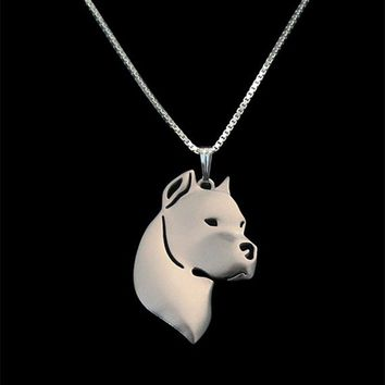Gold Silver Color Dogo Argentino Pendant Necklace Hunger Games Necklace Women Best Friend Choker