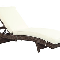 Vera Chaise, Brown/White, Outdoor Chaise Longues