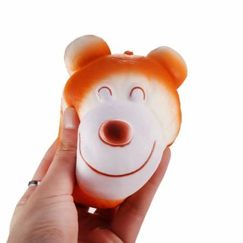 Soft Bear Head Shape Squishy Slow Rising Scented Toys