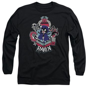 Teen Titans Go - Raven Long Sleeve Adult 18/1 Officially Licensed Shirt