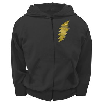 Grateful Dead - Foil Bolt Black Youth Zip Hoodie - Youth