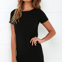 Shift and Shout Black Shift Dress