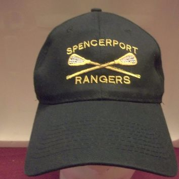SPENCERPORT RANGERS LACROSSE SEWN BASEBALL HAT CAP-ONE SIZE HIGH SCHOOL NEW YORK