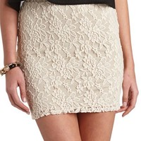 HIGH-WAISTED LACE MINI SKIRT