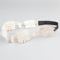 Full Tilt Crochet Cutout Headband Ivory One Size For Women 24357116001