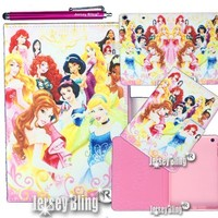 PRINCESS Case & Gift Set iPad Air (iPad 5) Faux Leather PVC Case with FREE Stylus & Disney Princess Gift Item