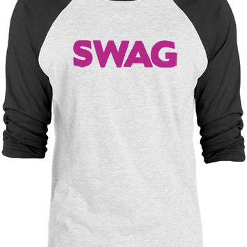 Big Texas SWAG (Pink) 3/4-Sleeve Raglan Baseball T-Shirt