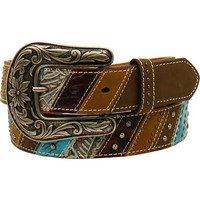 Ariat Women's Southwestern Theme Striped and Studded Belt