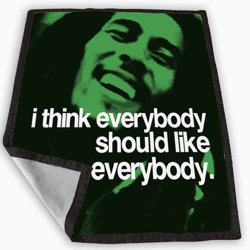 quotes of Bob Marley Blanket for Kids Blanket, Fleece Blanket Cute and Awesome Blanket for your bedding, Blanket fleece *