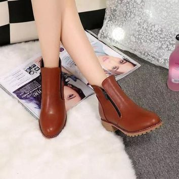 ESBONG Autumn Shoes Stylish High Heel Dr Martens Boots [9432935562]