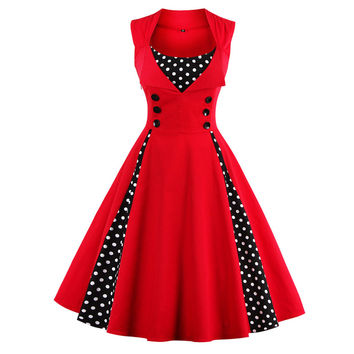 Polka Dot 5XL 50s 60s Retro Vintage Dress
