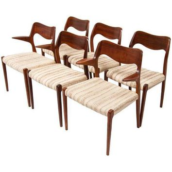 Pre-owned Rosewood Niels Møller Dining Chairs - Set of 6