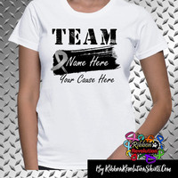 Brain Cancer Personalize Shirts Add Team Name and Cause (Brain Tumor, Diabetes and Parkinsons Disease)
