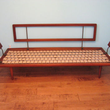 Mid Century DANISH MODERN Teak 2pc Daybed Sofa and Loveseat by Peter Hvidt / Molgaard