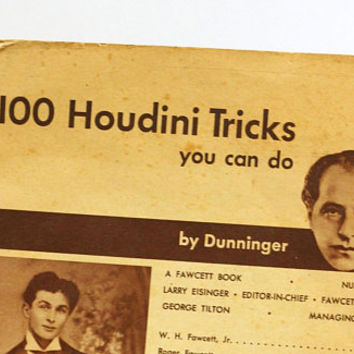 "Vintage Booklet ""100 Houdini Tricks You Can Do"" by Dunninger c.1954 