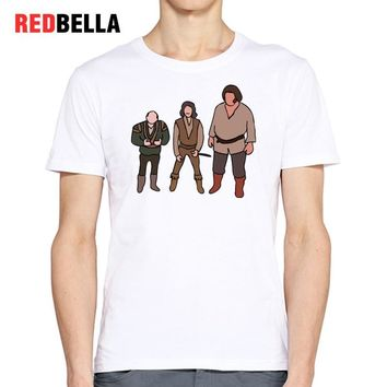 REDBELLA Hot Ulzzang Men T Shirt Princess Bride Hipster Cool Parody Cartoon Print Pattern Tumblr T-shirt Cotton Camisa Masculina