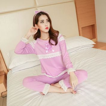 Autumn 2017 Adult unicorn pajamas kigurumi Costumes for teens women female Long Sleeve cotton o-neck sleepwear