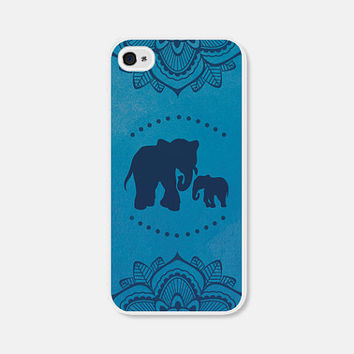 Elephant iPhone 6 Case - iPhone 5c Case - Elephant iPhone 5 Case - Blue Mandala Elephant iPhone Case Elephant iPhone 4 Case - iPhone 6 Cover