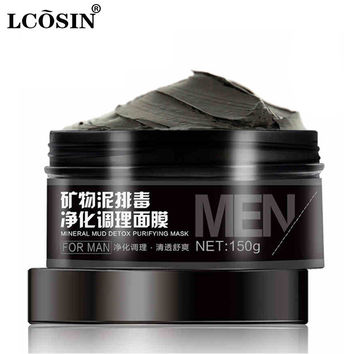 LCOSIN Men Face Mask Skin face Care Remove Blackhead Acne Treatment Mineral Facial Mask Moisturizing Skin Whitening Oil-Control