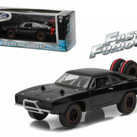 "Dom's 1970 Dodge Charger R-T Off Road ""Fast and Furious-Fast 7"" Movie (2011) Diecast Model Car 1-43 by Greenlight"