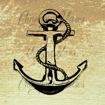 Vintage Boat Anchor Clipart Clip Art Nautical Instant Download P