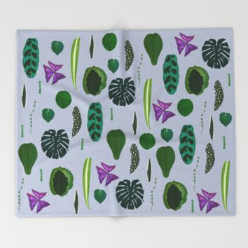 A non-scientific botanical investigation of the indoor plant.  Throw Blanket by Olivia James
