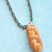 challah bread necklace