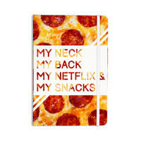 "KESS Original ""Priorities"" Typography Food Everything Notebook"