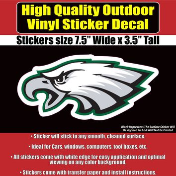 Philadelphia Eagles - NFL Philly Eagle vinyl sticker decal - 2 styles and several sizes available