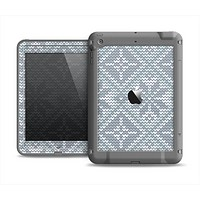 The Knitted Snowflake Fabric Pattern Apple iPad Mini LifeProof Fre Case Skin Set