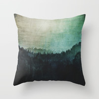 Great mystical wilderness Throw Pillow by HappyMelvin