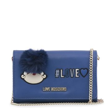 Love Moschino Blue Puff Wallet with Chain