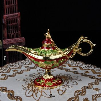 Blessing lamp Lamp Home Decoration create gift handmade Antique Style Magic Lamps Tea Pot a ~ la ~ ding magic wishing genie lamp