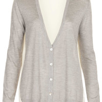 Knitted Cardi With Woven Back - Knitwear - Clothing - Topshop