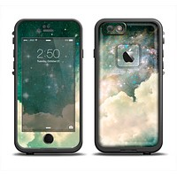 The Cloudy Grunge Green Universe Apple iPhone 6/6s Plus LifeProof Fre Case Skin Set
