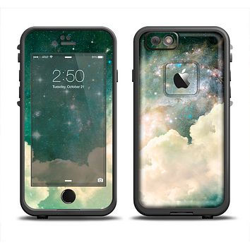 The Cloudy Grunge Green Universe Apple iPhone 6 LifeProof Fre Case Skin Set