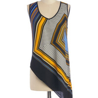 ModCloth Short Length Sleeveless That's the Sway It Is Top