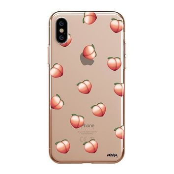Peach Emoji - iPhone Clear Case
