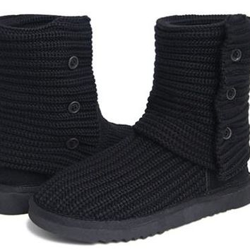UGG Women Classic Cardy Boots 5819 Black