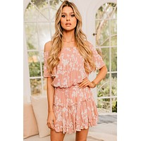 Florida Daydream Floral Dress (Blush)